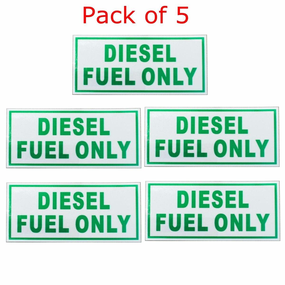 Diesel Fuel Only Vinyl Decal Sticker Label Fuel Door Label Turbo Waterproof