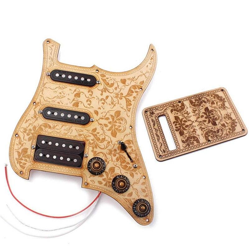 ADDFOO Guitare Pickguard 3-plis SSH Chargé Alnico V Humbucker Micros Scratch Plate Protecteur Pour ST/Strat Électrique guitare Pièces
