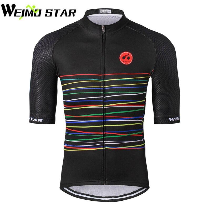 WEIMOSTAR 2018 Männer Team Pro Reiten Radfahren Jersey Fahrrad Kurzarm Kleidung Hemd Tops S-5XL