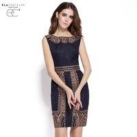 ElaCentelha Brand Dress Summer Women High Quality Embroidery Print Dress Casual Sleeveless Slim Waist Women S