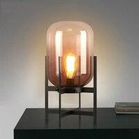 Светодиодный Nordic Стол lights прикроватная тумбочка для спальни светильники промышленные Ретро освещения новинка дома деко освещения гостина
