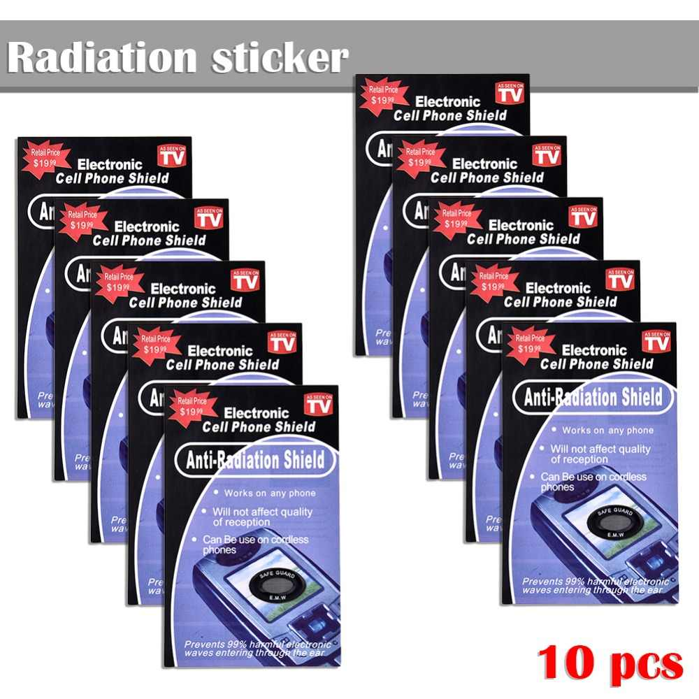10PCS Anti Radiation Protection EMF Shield Phone Stickers Smartphone Home  Radio RadiSafe Pegatinas Drop Shipping