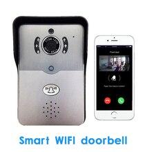 Home use Smart WIFI Wireless Doorbell Two way Video Recorder Door Phone APPs Unlock and Communication Intercom system PIR alarm