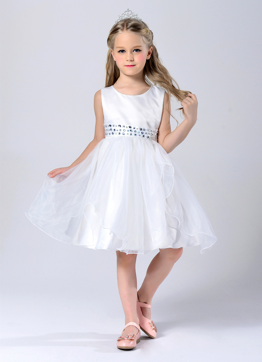 Online get cheap baby girl bridesmaid dresses aliexpress kids baby girls appliques wedding bridesmaid flower girl dress ball gown prom party elegant chiffon dress ombrellifo Gallery