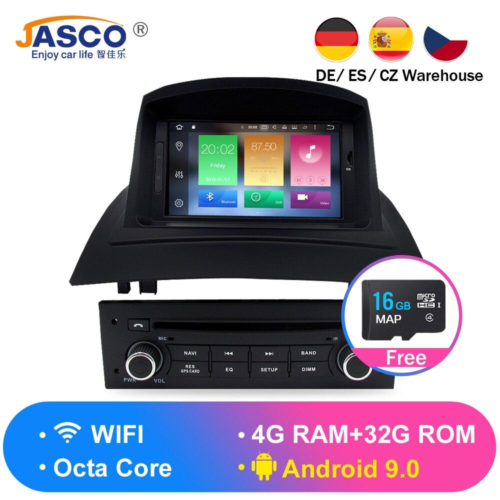 Multimédios estereofônicos de dvd do carro de 4 gb ips android 8.0 para renault megane 2 fluence 2002-2006 2008 auto rádio gps navegação áudio vídeo