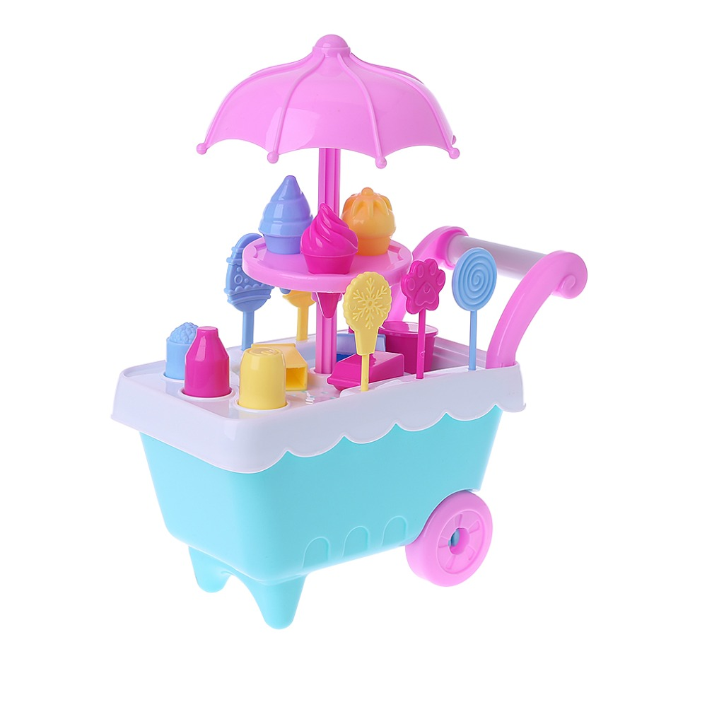 Children Gift Ice Cream Cart Play Set Kids Pretend play Food Educate Puzzle Toys ice cream cart toy