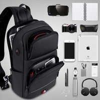 FRN Borsa con tracolla per Gli Uomini di Ricarica USB Messenger Sling Bag Petto Impermeabile Sacchetto di Oxford Singola Cinghia di Spalla Pacchetto 2019 Nuovo