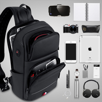 FRN Crossbody Bags for Men USB Charging Messenger Sling Bag Waterproof Chest Bag Oxford Single Shoulder Strap Pack 2019 New