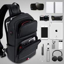 FRN Crossbody Bags for Men USB Charging Messenger Sling