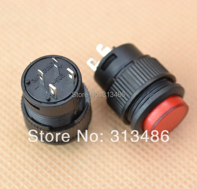 16MM self-lock push button switch ON-OFF with lamp