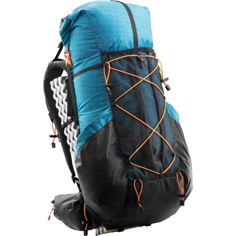 Professionnel 900g résistant à L'eau Randonnée Sac À Dos Ultra-Léger Camping Pack Voyage Alpinisme Randonnée Sans Cadre Sacs À Dos