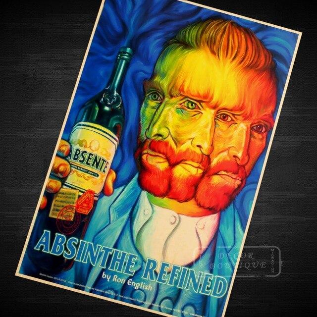 Absinthe Refined Van Gogh Painting Vintage Retro Kraft Coated Poster ...