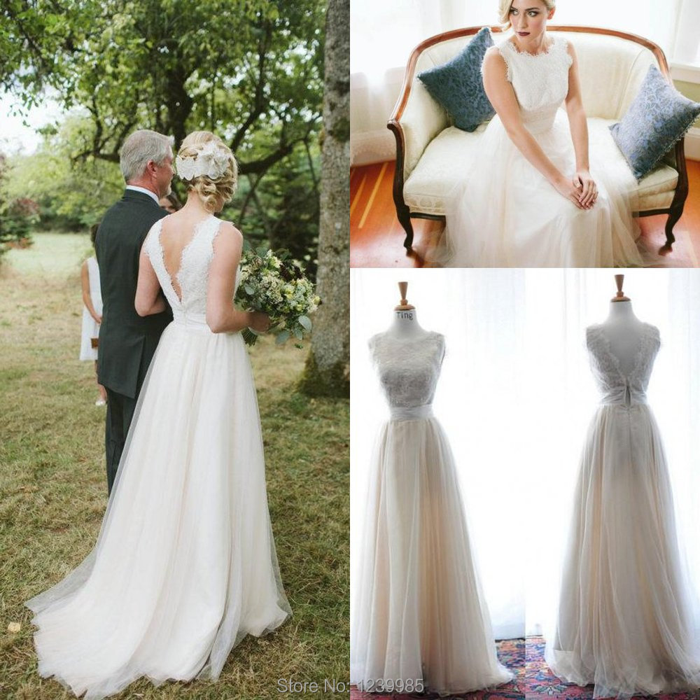 Real Maine Weddings 2017: 2017 Real Sample Wedding Dress Long Court Train Scoop Sexy