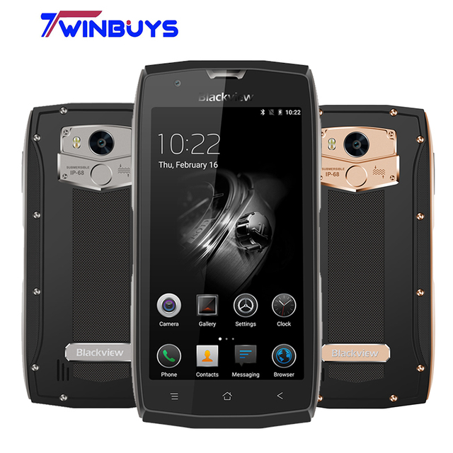 "Оригинал Blackview BV7000 мобильного телефона IP68 водонепроницаемый MTK6737T Quad Core 5 ""HD 2 г + 16 г отпечатков пальцев GPS + ГЛОНАСС смартфон"