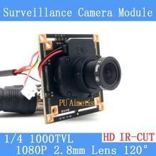 1000TVL CMOS Security Camera PCB Board Module with 1080P 2.8mm Lens IR CUT Filter