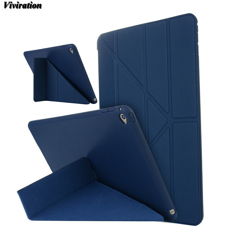 Viviration Tablet Case Wake Up Sleep Function Smart Stand Cover For Apple iPad 6 For Apple iPad Air 2 9.7 Inch Tablet TPU Case nice tpu soft silicone back case stand smart cover for apple ipad 2 3 4 case pu leather magnetic wake sleep slim