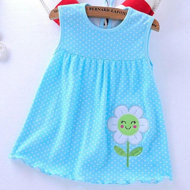 תינוק שמלות 2018 בנות מכירה לוהטת נסיכת 0-2years ילדים כותנה בגדי קיץ ילדים של בגדי נמוך מחיר יום הולדת שמלה