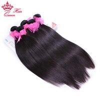 Queen hair Products Wholesale Human Hair Brazilian Hair Weave Bundles Straight Hair Extensions Virgin Free shipping 10 20
