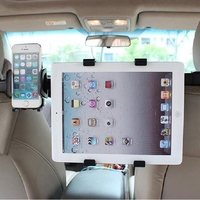 Universal 2 In 1 Car Phone Tablet PC Mount Holder Stand For Back Seat Headrest High