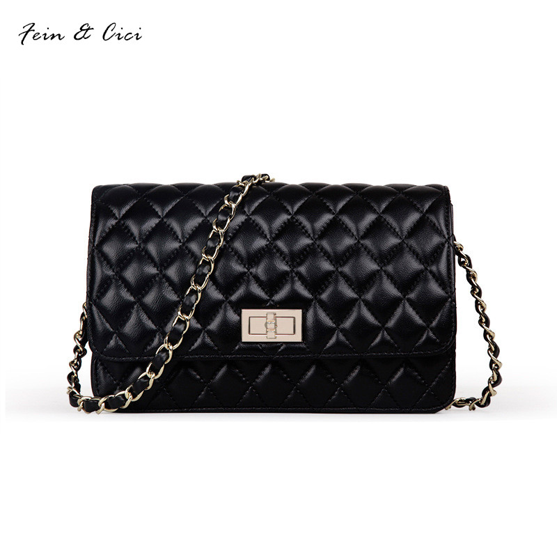 genuine leather messenger bag chains flap bag handbag women 100% sheepskin classic luxury brand crossbody bag black white black studded flap crossbody bag page 9