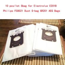 10 Stks/partij Sbag Voor Electrolux E201B Philips FC8021 Stof Sbag GR201 Aeg Tassen