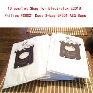 Image 1 - 10 pçs/lote E201B Philips Sbag para Electrolux Sbag FC8021 Poeira GR201 AEG Sacos