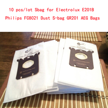 10 pz/lotto Sbag per Electrolux E201B Philips FC8021 Polvere Sbag GR201 AEG Borse