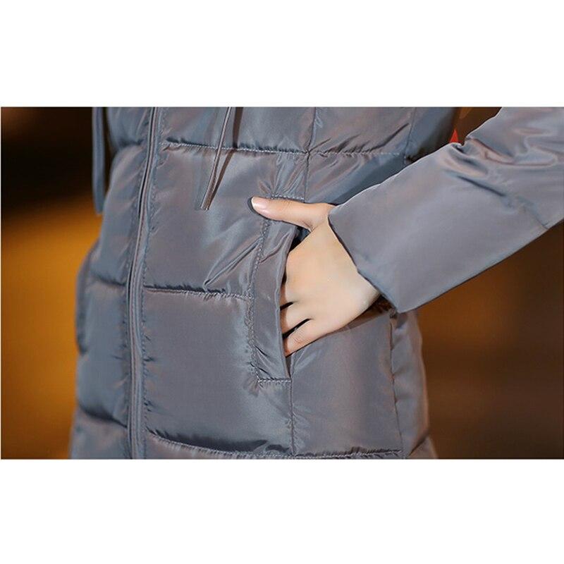 Longues Longue Doudoune Était Grande Épaississement Nouvelle Manteau À armygreen Coton Manches Femelle Mince Femmes Section Black grey De Taille 2019 Veste 8qP5wA