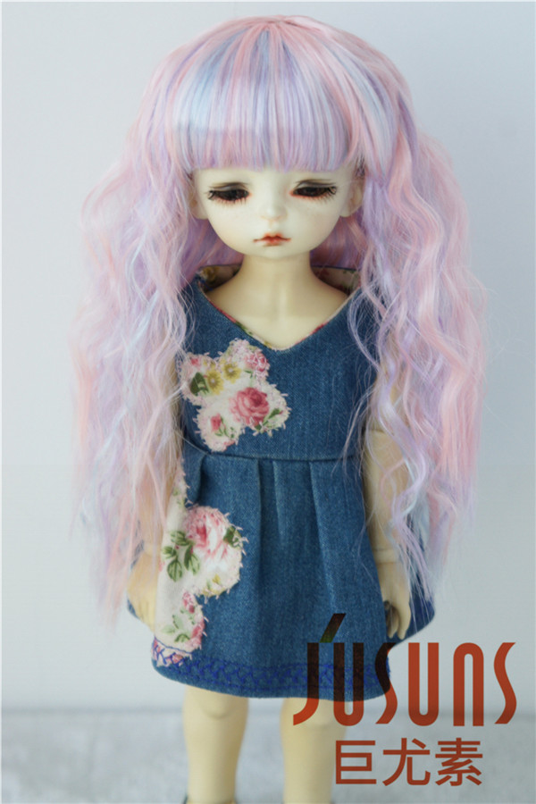JD402 1/12,1/8,1/6,1/4,1/3 Lovely Curly BJD Synthetic Mohair Doll Wigs Fashion doll accessories jd145 msd synthetic mohair doll wigs 7 8inch long curly bjd hair 1 4 doll accessories