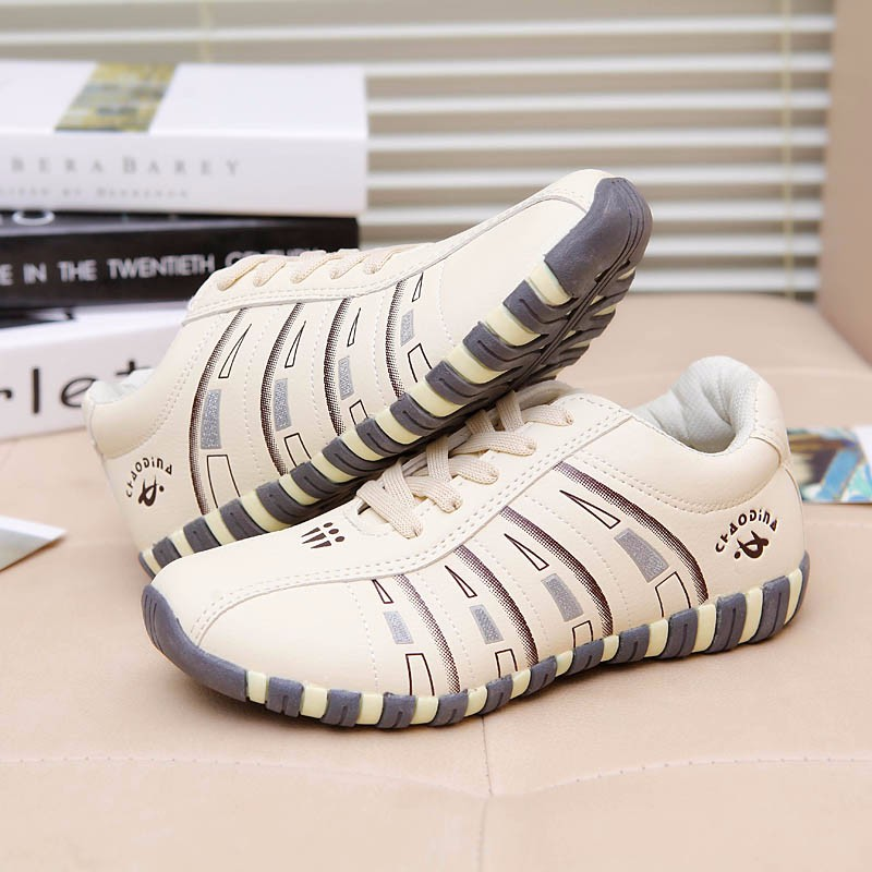 KUYUPP Fashion Breathable Leather Women Casual Shoes Lace Up Woman Trainers Outdoor Women Low Toe Shoes Zapatillas Mujer YD122 (26)