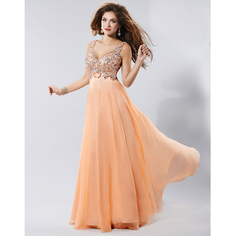 Collection Peach Formal Dresses Pictures - Reikian