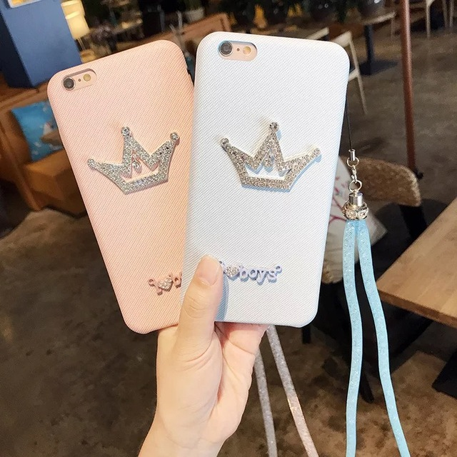 Luxury Diamond Crown Soft Cases For Oppo F1 Plus Back Covers I love Boys  Bling Girls Leathr Case For Oppo R9 Phone Covers 39360976f8ce