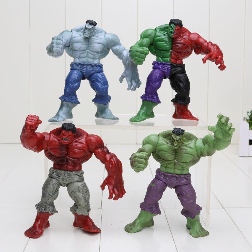 Hasbro Marvel 4pcs/set 12cm Avengers 2 Hulk Compound Red Grey Green PVC Action Figure model Toys 1