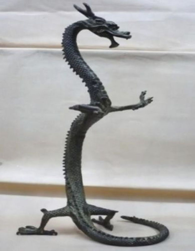 Figurines de statue de dragon chinois en bronze exquis 17