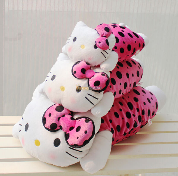 ФОТО Fancytrader 26'' 65cm Giant Plush Stuffed Hello Kitty Pillow, Best Birthday Gift! Free Shipping FT90164