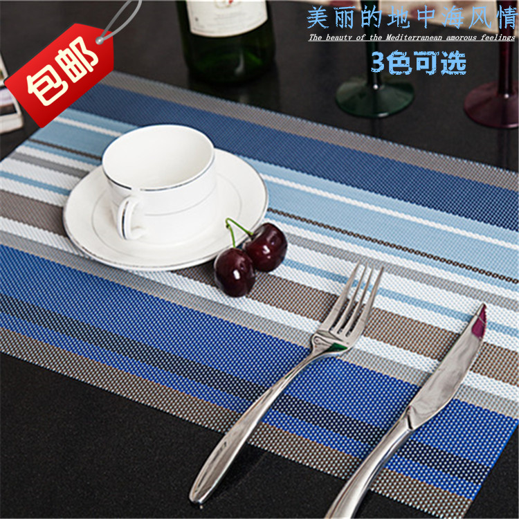 table mats set placemat 3 colors decoration pvc kitchen table mats dinning waterproof table cloth - Kitchen Table Mats