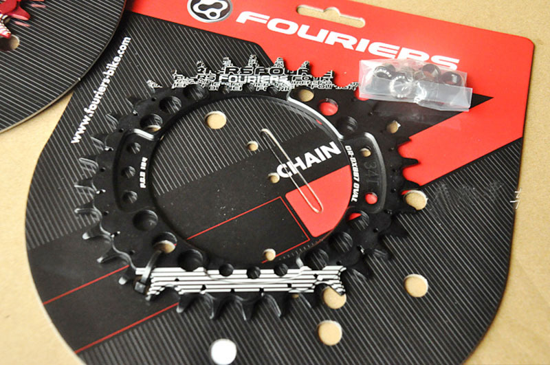 1pc Fouriers CNC Bike Single Chain Ring 34T 36T Bicycle Chainrings P.C.D 104 Oval Shape Compatible For S h i m a n o