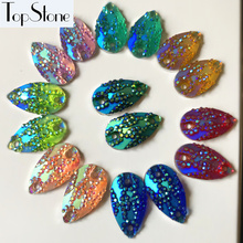 100pcs Teardrop Sew On Stone 11x18mm New AB Colors Resin Sewing crystal  beads DIY Jewelry Hair 2f2cc88afb11