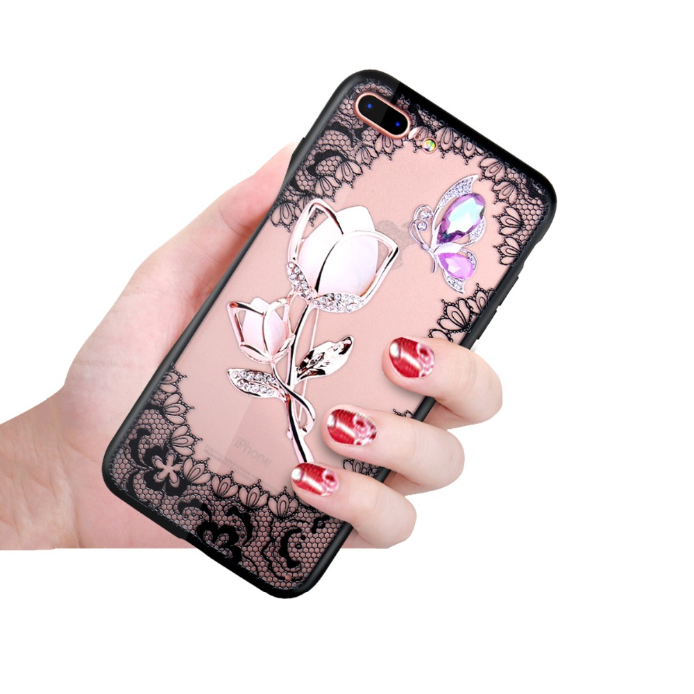 <font><b>3D</b></font> Lace Flower Phone <font><b>Case</b></font> for <font><b>Vivo</b></font> IQOO Y17 y3 Z5X v11 V11i V7 V75 V9 V7 PLUS Y85 Y83 Y71 <font><b>Y69</b></font> Y79 Y67PC+TPU Back Cover image