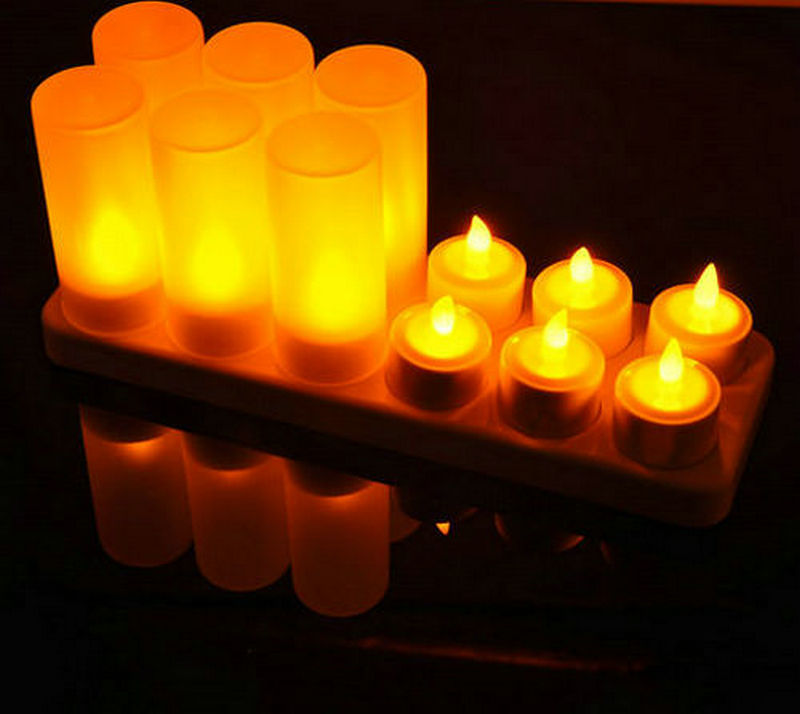 LED Remote Control Flameless Tealight Candles Light Wedding Party Decor Romantic