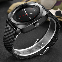 LIGE 2019 new smart watch mens sports LED color touch screen Bluetooth support SIM card camera music player