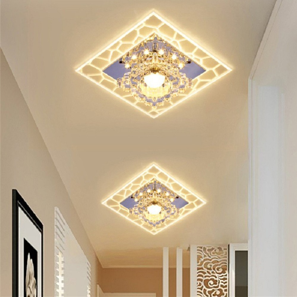 3W/5W Surface Mounted Modern Crystal Ceiling Lights For Living Room Bedroom Fixtures Indoor Home Decoration Ceiling Lamp crystal ceiling chandelier home for living dining room lamp indoor home decoration bedroom lights crystal led lamp