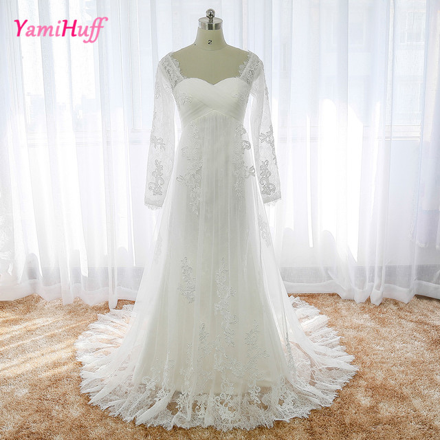China Bridal Gowns Lace Long Sleeve Plus Size Real Photo Wedding ...