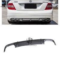 C Class carbon fiber(AMG Car body kit) rear lip rear spoiler tail lip for Mercedes Benz w204 C63 AMG 07 11 Car styling use