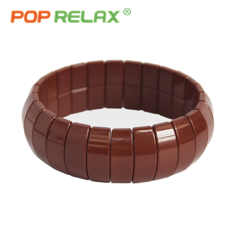 POP RELAX Korea tourmaline germanium bracelet energy negative anion physical therapy new fashion stone bracelets for men women pop relax negative ion magnetic therapy tourmaline mat pr c06a 55x120cm ce