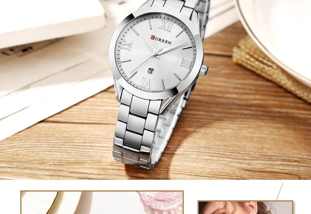 Relogio Feminino CURREN Fashion Women Watches Top Brand Luxury Ladies Watch Stainless Steel Classic Bracelet Female Clock 9007