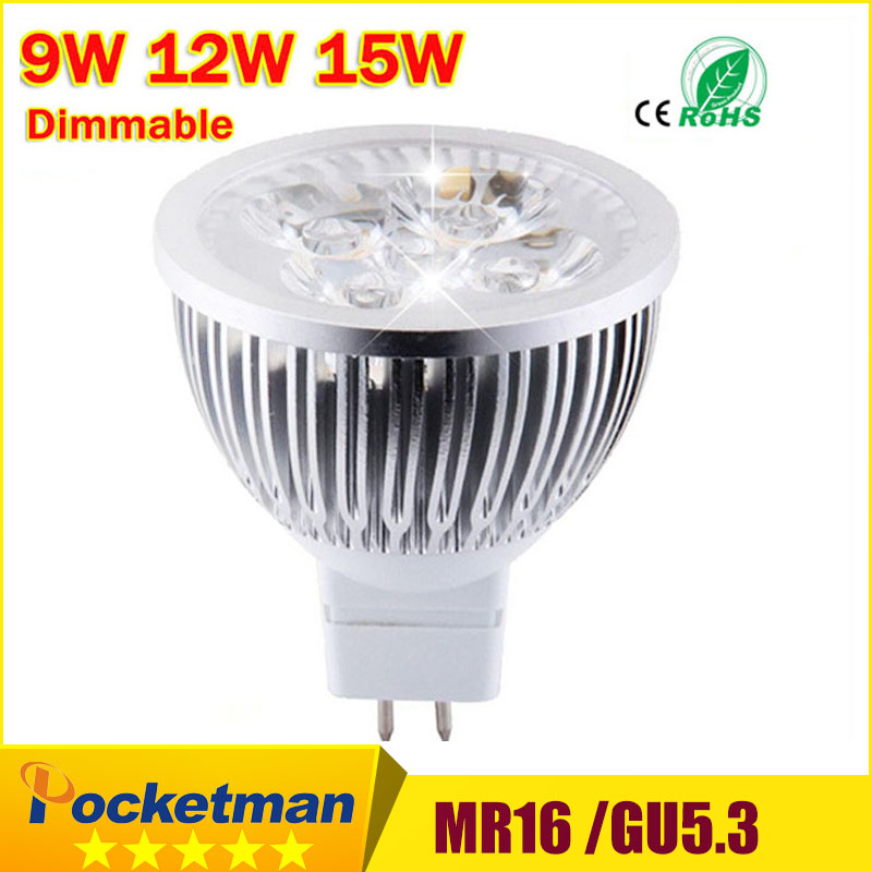 High lumen Spotlight CREE MR16 GU5.3 GU10 E14 E27 LED spot light lamp 12V 220V 110V 9W 12W 15W LED Spotlight Bulb Lamp light