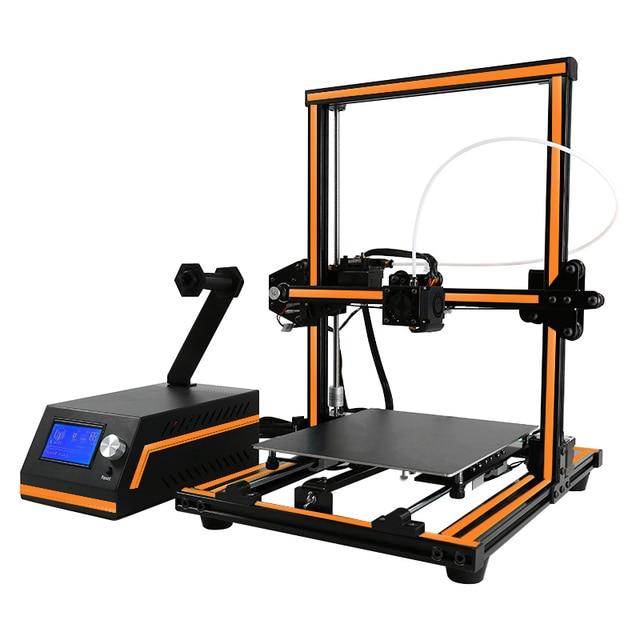 Anet E12 Easy Operate 12864 LCD Screen Semi-Assembled 3d Printer 300*300*400mm Build Volume Impressora 3d Nice Metal Frame