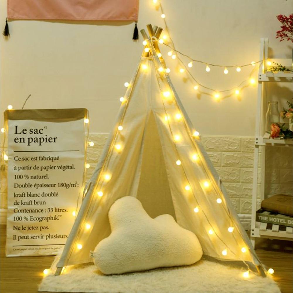 4m 5m Festoon Bulbs LED String Light Holiday Garland Balls Christmas Decoration Fairy Lights Wedding Party Battery Operated JQ