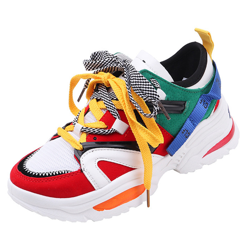 2019 Women Shoes Fashion Sneakers White Designer Vulcanize Shoes Casual Women Flats Breathable Dad Shoes Autumn Trainers Female2019 Women Shoes Fashion Sneakers White Designer Vulcanize Shoes Casual Women Flats Breathable Dad Shoes Autumn Trainers Female